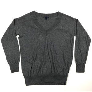GAP Cashmere Blend V-Neck Sweater Womens Size MP